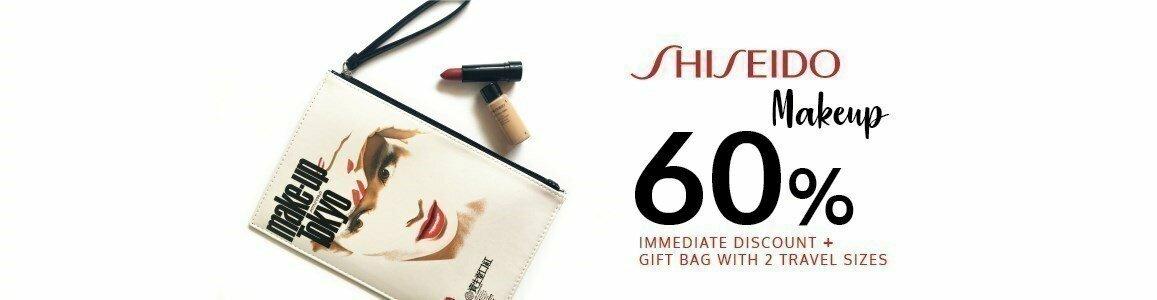 shiseido oferta bolsa maquilhagem en