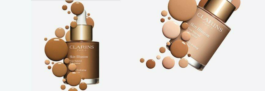 clarins skin illusion base liquida hidratacao