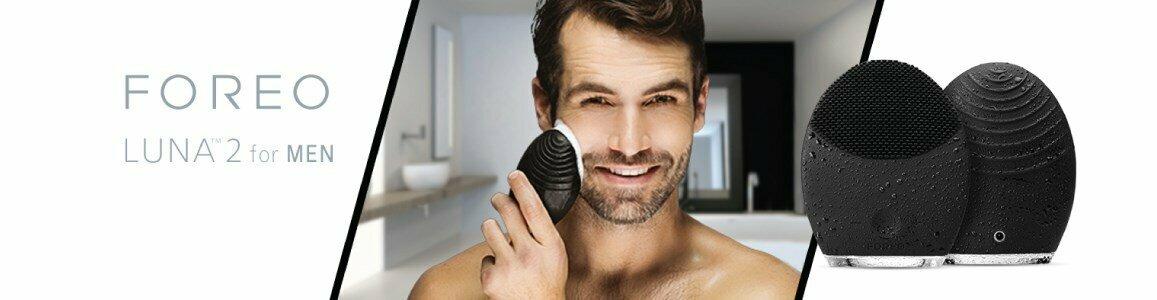 escova limpeza facial antienvelhecimento homem foreo