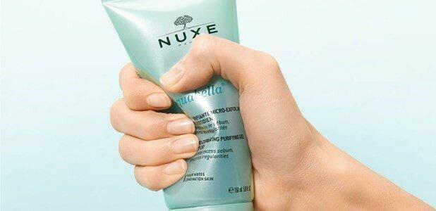 nuxe aquabella esfoliante gel limpeza purificante rosto