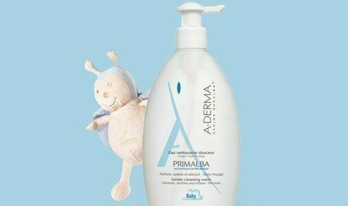 a derma primalba agua limpeza suave higiene do bebe