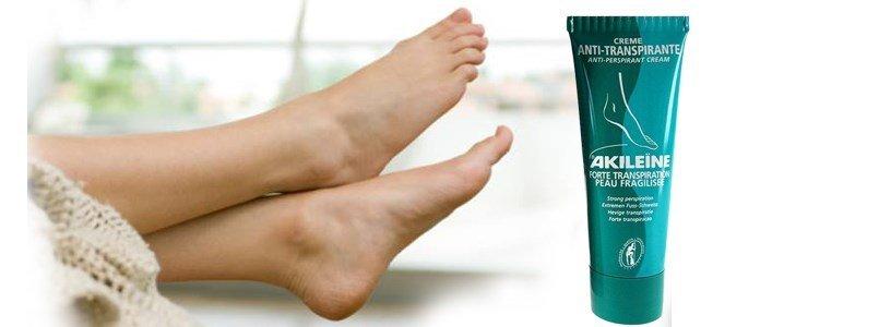 akileine creme pes anti transpirante transpiracao forte