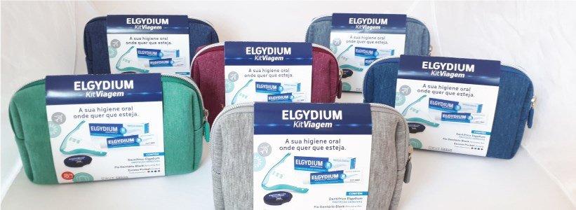 elgydium kit viagem adulto escova viagem sortida pasta gengivas bolsa sortida