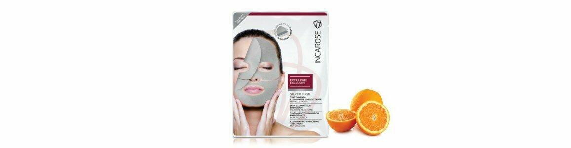 incarose silver mascara tecido iluminadora vitamina c