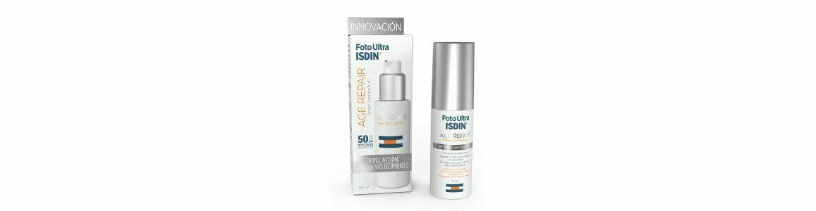 isdin fotoultra age repair spf50 textura fusionwater 50ml