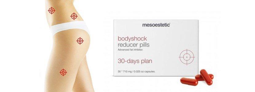 mesoestetic bodyshock reducer pills inibidor acumulacao gorduras