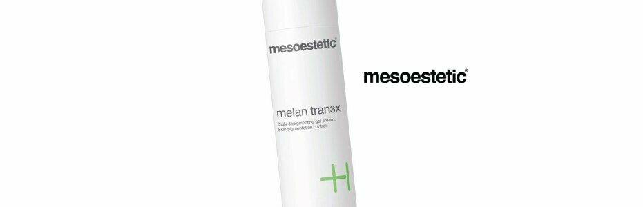 mesoestetic melan tran3x daily depigmenting gel cream