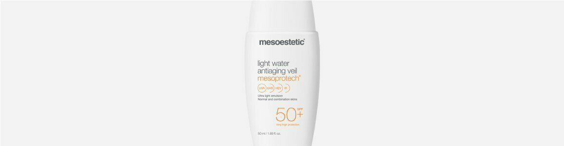 mesoestetic mesoprotech light water solar veu anti idade
