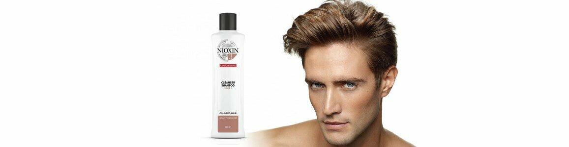 nioxin sistema 3 cabelo normal fino shampoo pintado