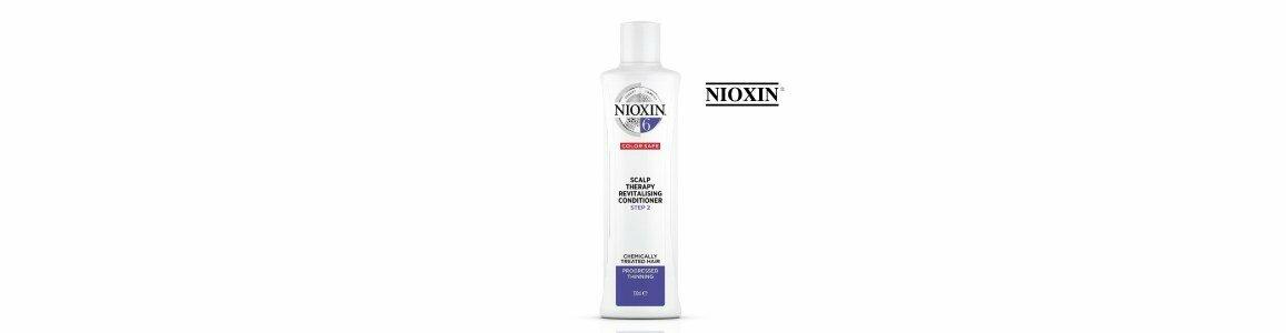 nioxin sistema 6 condicionador cabelo espesso fragil pintado