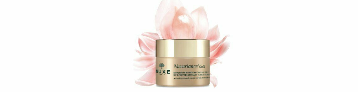 nuxe nuxuriance gold balsamo noite nutri fortificante pele seca