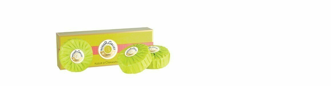 roger gallet fleur osmanthus sabonetes coffret en