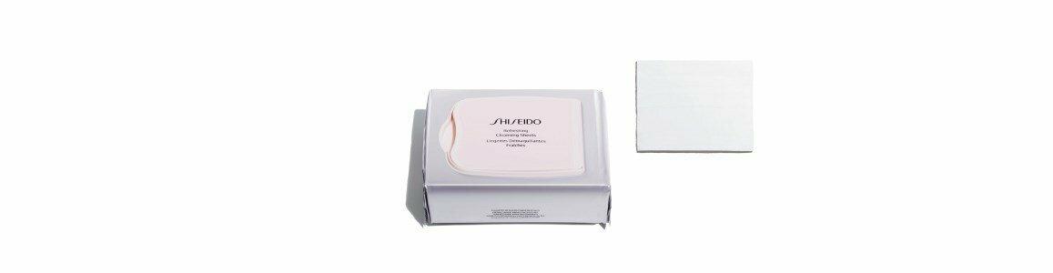 shiseido essentials toalhitas limpeza rosto resfrescantes en