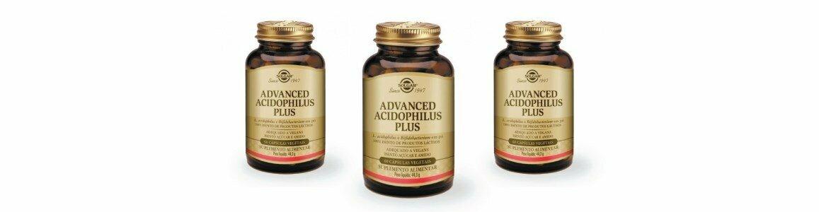 solgar advanced acidophilus plus suplemento probiotico