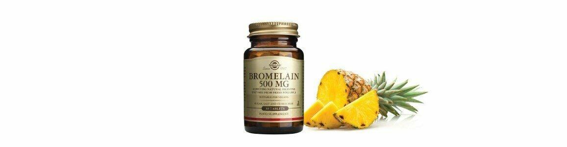solgar bromelaina enzima promotora digestao 60comprimidos
