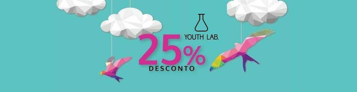 youth lab 25 desconto em toda marca