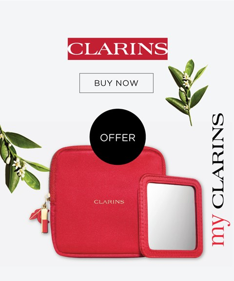 My clarins | offer beauty hotline purse