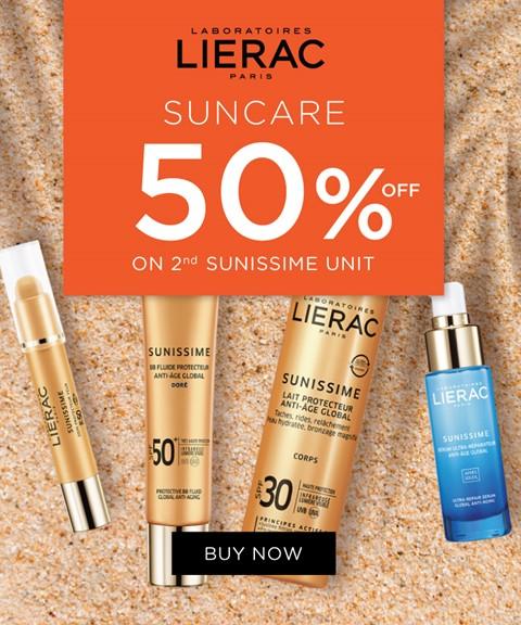Lierac | 50% off 2nd unit | suncare