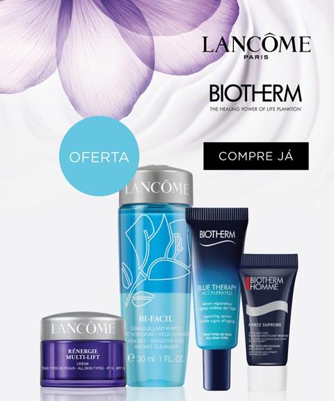 Lancôme & biotherm | oferta kit 4 travel sizes