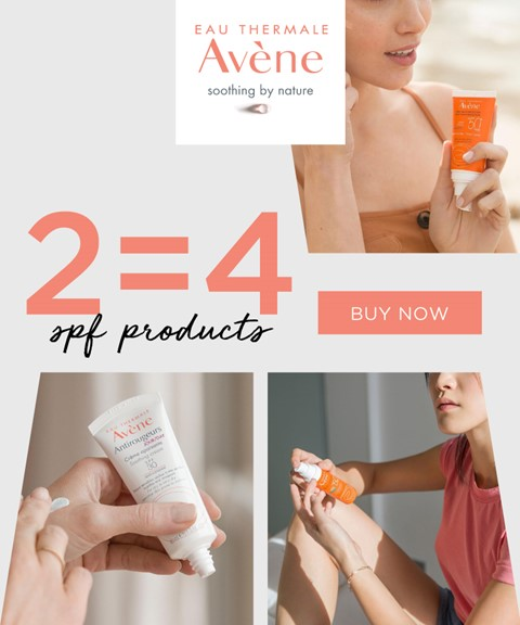 Avene | 2=4 | skincare with spf and suncare