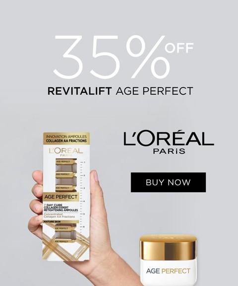 L'oreal paris | 35% off | revitalift age perfect
