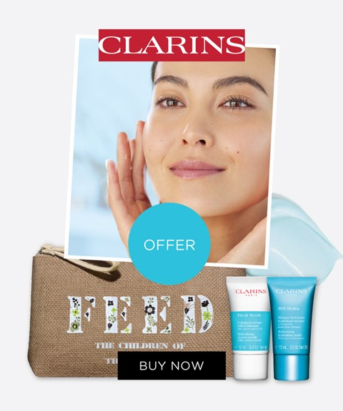 Clarins | offer pouch + 2 travel sizes
