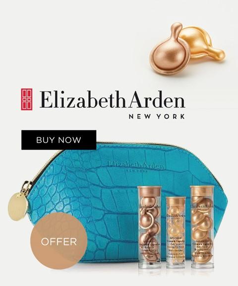 Elizabeth arden  offer pouch + 3 travel sizes