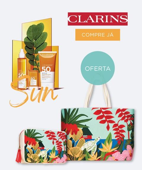 Clarins  | oferta bolsa + saco verão