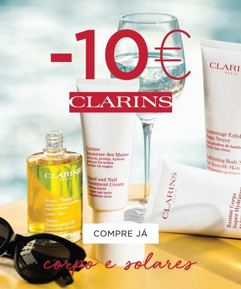 Clarins | -10€ | corpo e solares