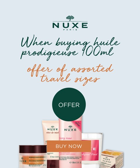 Nuxe   offer   travel sizes