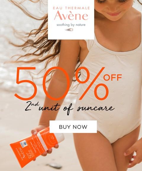 Avène | 50% off on 2nd unit | suncare