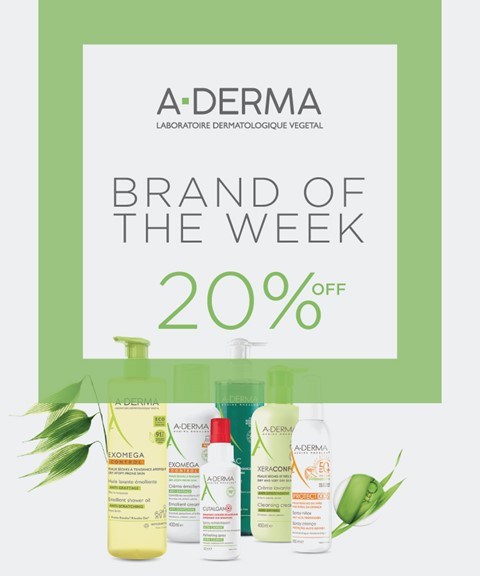 A-derma   20% off   brand of the week