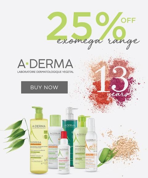 A-derma | 25% off | exomega